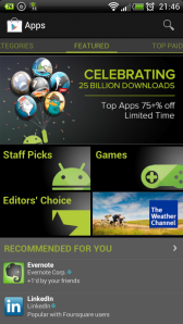 75% off on the Android Market