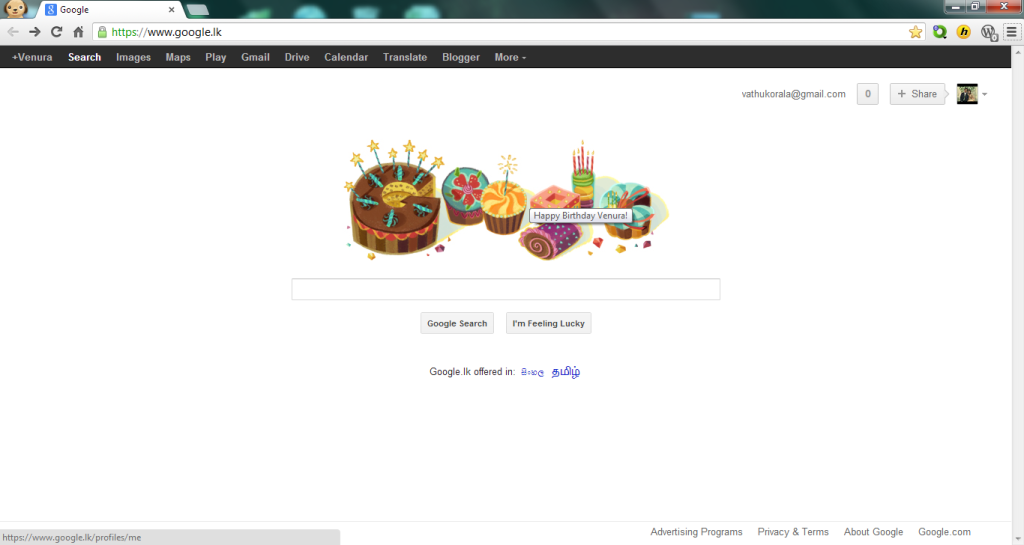 Birth Day Wish From Google